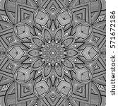 mandala. ethnic round ornament. ... | Shutterstock .eps vector #571672186