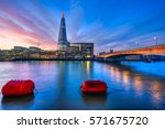 beautiful sunrise over london ... | Shutterstock . vector #571675720