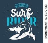 surfing artwork. los angeles... | Shutterstock .eps vector #571677733