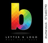 letter b logo design concept in ... | Shutterstock .eps vector #571683790