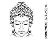 buddha head   elegant vector... | Shutterstock .eps vector #571692046
