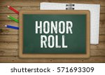 word honor roll as text in... | Shutterstock . vector #571693309