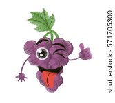 grapes expressions silly face... | Shutterstock .eps vector #571705300