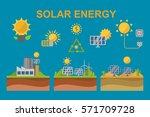 sun solar energy power...   Shutterstock .eps vector #571709728
