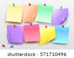 collection of different colored ... | Shutterstock .eps vector #571710496