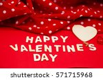 happy valentine's day letter on ... | Shutterstock . vector #571715968