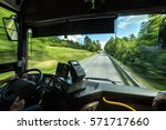 from a bus driver's point of... | Shutterstock . vector #571717660