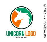 unicorn head logo icon symbol | Shutterstock .eps vector #571718974