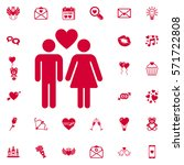 vector design for young couple... | Shutterstock .eps vector #571722808
