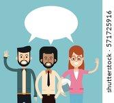group people talking dialog... | Shutterstock .eps vector #571725916
