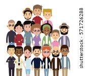 big group people multi culture... | Shutterstock .eps vector #571726288