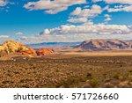 colorful rocks of stone desert...   Shutterstock . vector #571726660