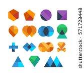 abstract shape logo modern... | Shutterstock .eps vector #571728448