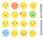 set of different face emotions. ... | Shutterstock .eps vector #571746538