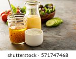 variety of homemade sauces and... | Shutterstock . vector #571747468