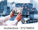 business of world wide cargo... | Shutterstock . vector #571748854