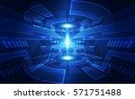 abstract digital technology... | Shutterstock .eps vector #571751488