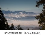 view over carpathian mountains... | Shutterstock . vector #571755184