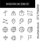 set of navigation icons in... | Shutterstock .eps vector #571756000
