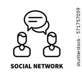 social network icon or logo in...   Shutterstock .eps vector #571757059