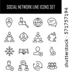 set of social network icons in... | Shutterstock .eps vector #571757194