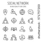 set of social network icons in... | Shutterstock .eps vector #571757203
