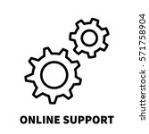 online support icon or logo in... | Shutterstock .eps vector #571758904