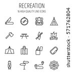 set of recreation icons in... | Shutterstock .eps vector #571762804