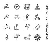 set of recreation icons in... | Shutterstock .eps vector #571762834