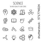 set of science icons in modern... | Shutterstock .eps vector #571774024