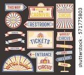 circus vintage label banner...   Shutterstock .eps vector #571775803