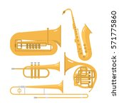 wind musical instruments vector ...