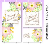 vintage delicate invitation... | Shutterstock . vector #571775914