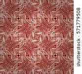 bright red geometric seamless... | Shutterstock .eps vector #571779508