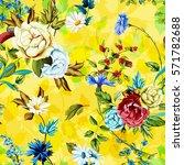 wild roses  peony  cornflowers  ... | Shutterstock .eps vector #571782688
