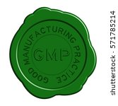 green gmp  good manufacturing... | Shutterstock .eps vector #571785214