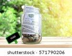 fund words on blackboard with... | Shutterstock . vector #571790206