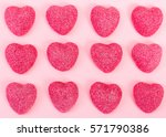 Pattern Of Candy Heart Shape O...