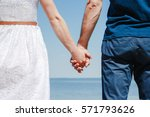 close up of loving couple... | Shutterstock . vector #571793626