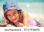 beautiful 5 years old girl... | Shutterstock . vector #571793893