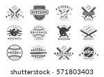 set of baseball emblems.... | Shutterstock .eps vector #571803403