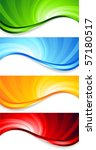 Vector Set Of Abstract Swirl...