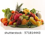 fresh fruits and vegetables | Shutterstock . vector #571814443