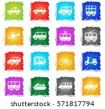 transport vector web icons in... | Shutterstock .eps vector #571817794