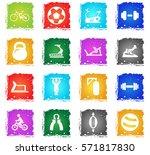 sport equipment vector web... | Shutterstock .eps vector #571817830