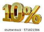 3d Render  Gold 10 Percent Off...