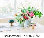 Florist Making Bouquet. Flowers ...