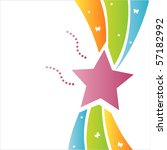colorful star background | Shutterstock .eps vector #57182992