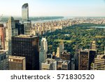 new york skyline and central... | Shutterstock . vector #571830520