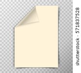 folded a4 paper sheet on... | Shutterstock .eps vector #571837528